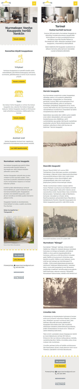 WordPress-kotisivut: Nurmeksen Vanha Kauppala, Mobiilinäkymiä - Mediakumpu