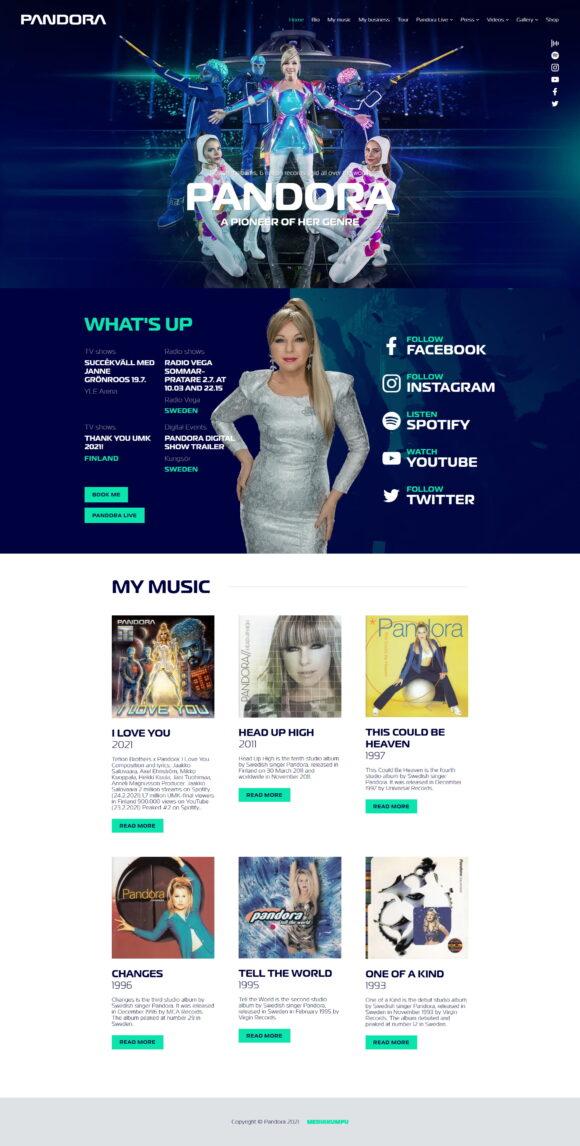 WordPress-kotisivut: Anneli Pandora Magnusson, etusivu - Mediakumpu