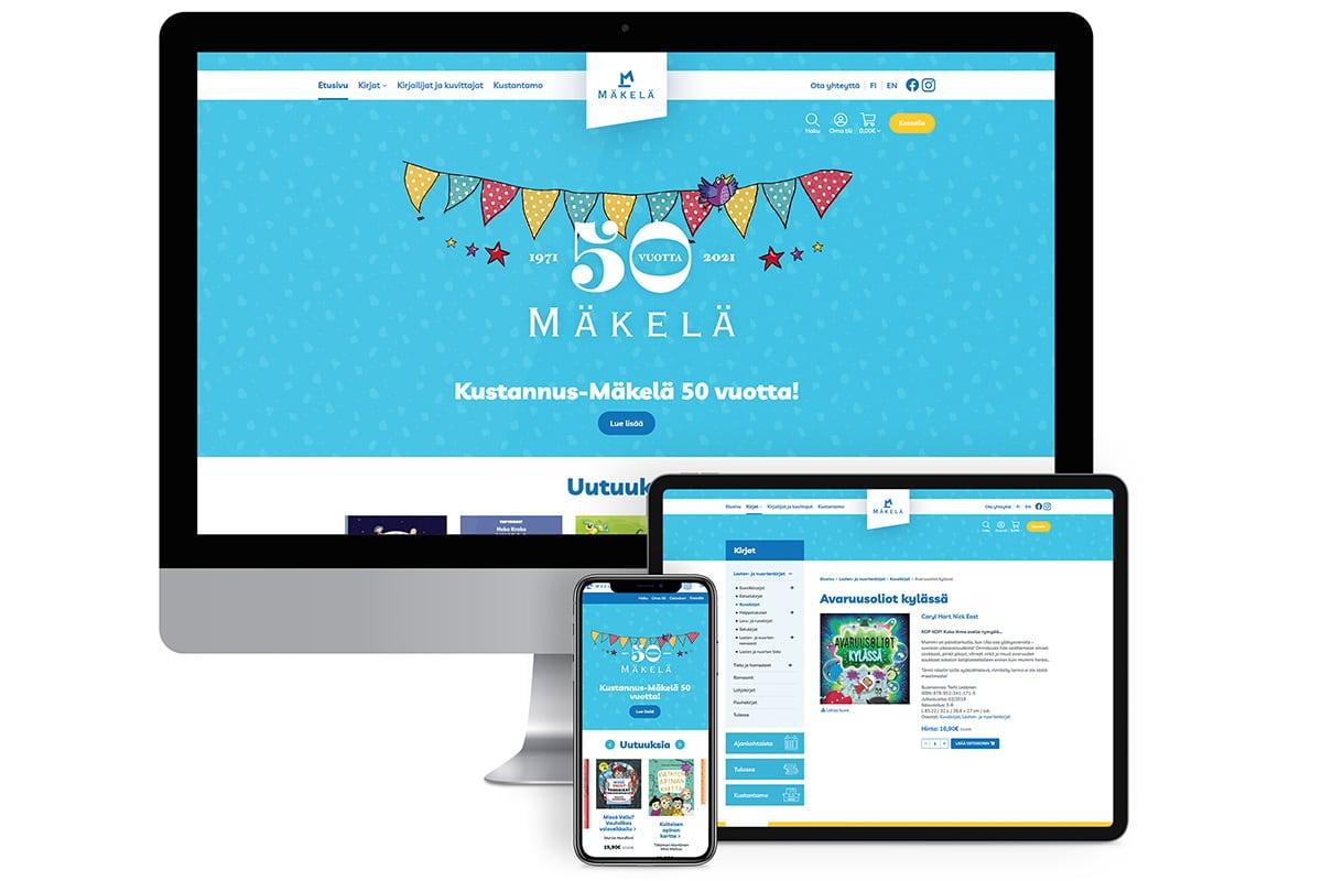 WooCommerce-verkkokauppa: Kustannus-Mäkelä - Mediakumpu