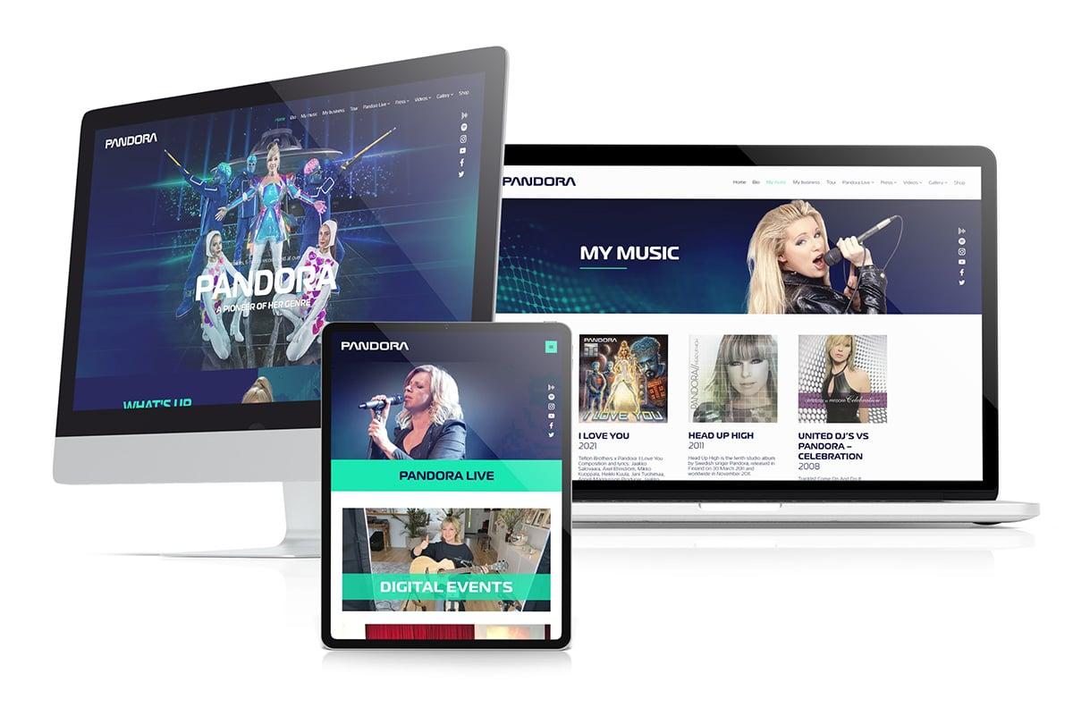 WordPress-kotisivut: Anneli Pandora Magnusson - Mediakumpu