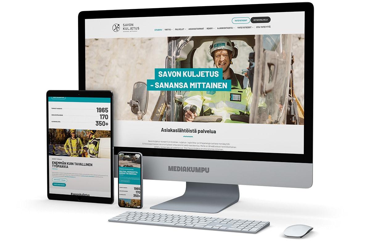 WordPress-kotisivut: Savon Kuljetus - Mediakumpu